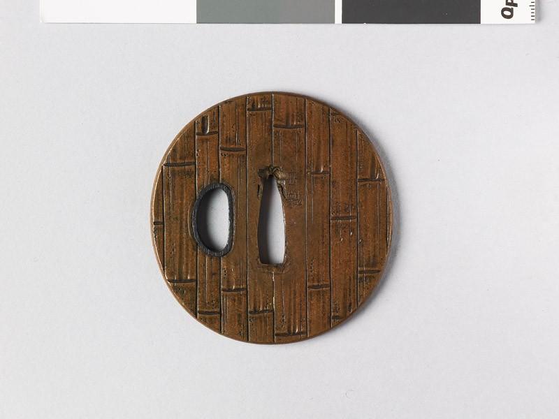 Tsuba with bamboo (EAX.10945, front           )
