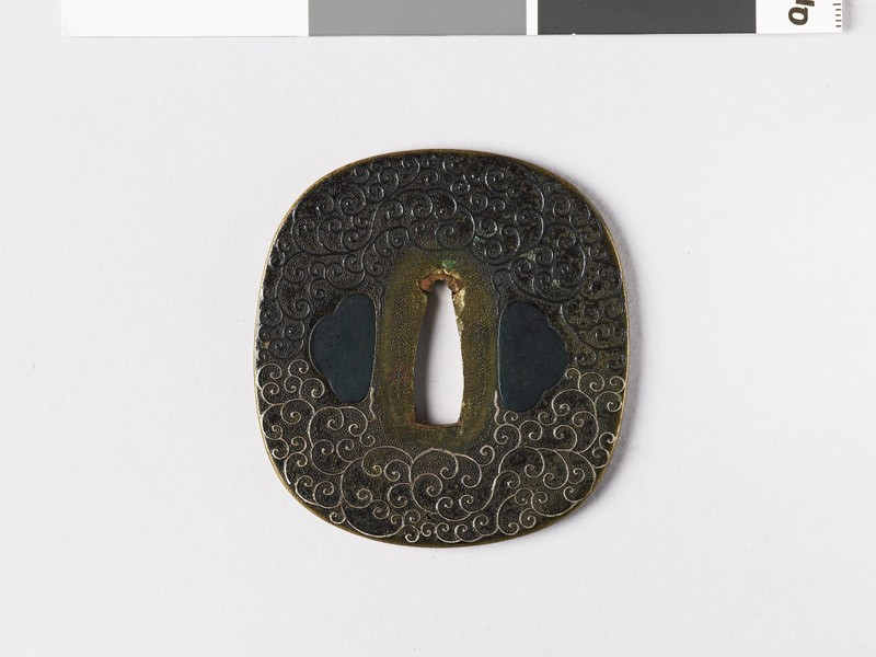Tsuba with scrolling stems (EAX.10969, front           )
