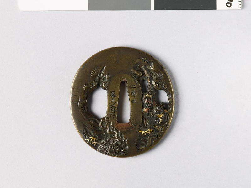 Tsuba depicting the Chinese generals Kuan Yü and Ch'ang Fei