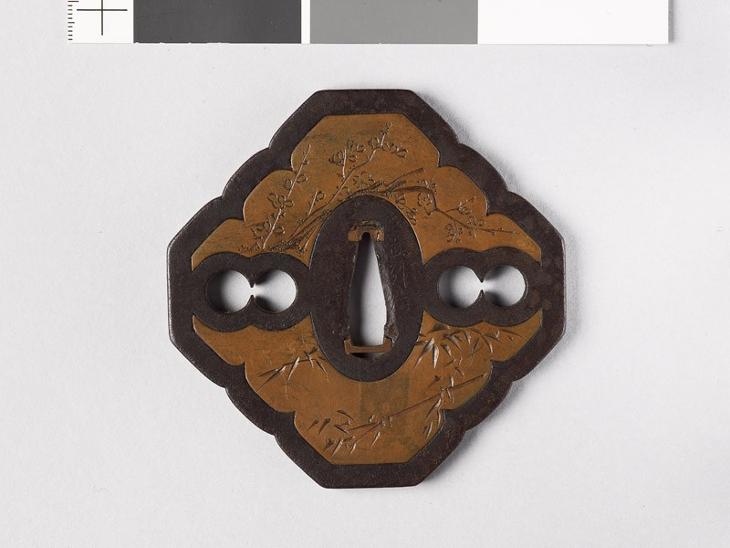 Tsuba with shikunshi, or Four Noble Plants (EAX.10999, front           )