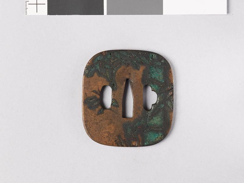 Tsuba with bamboo (EAX.11148, front           )