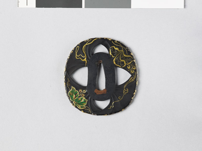 Tsuba in the form of gingko leaves