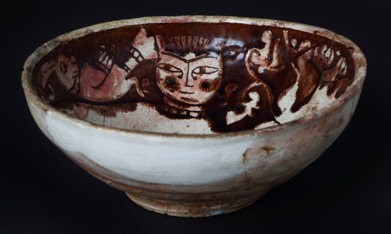 Bowl with lions and birds (EAX.3013, top, front          )