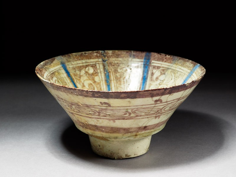 Bowl with lustre decoration (EAX.3067, oblique          )