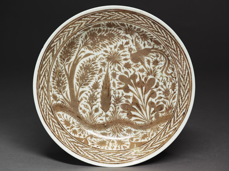 Dish with phoenix in a landscape (EAX.3081, top          )