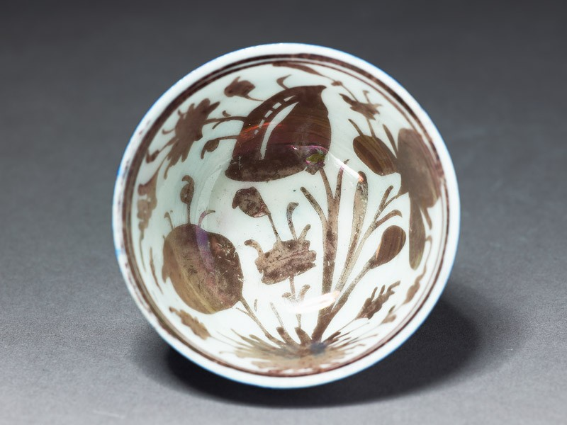 Cup with floral sprays (top          )