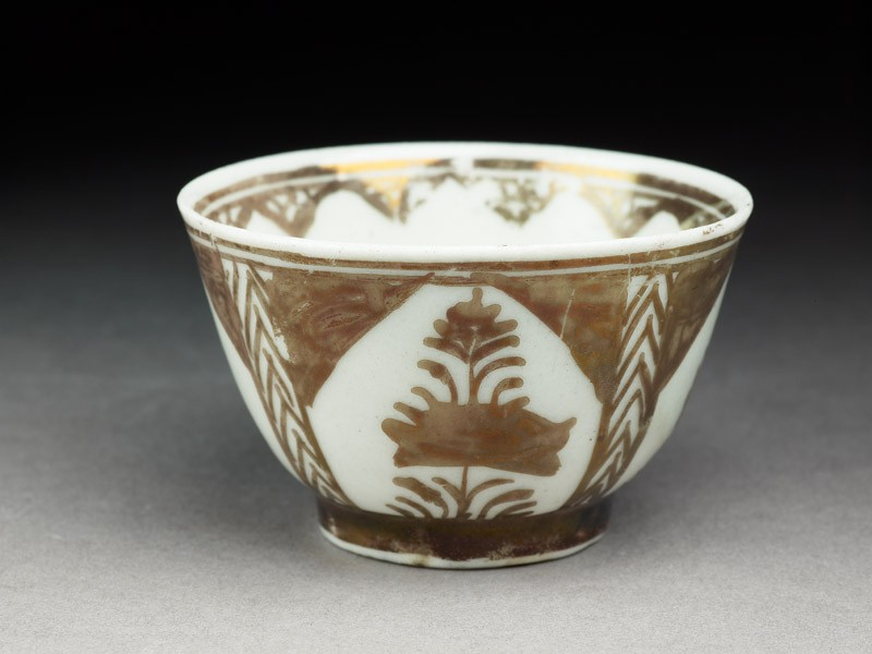 Cup with lustre decoration