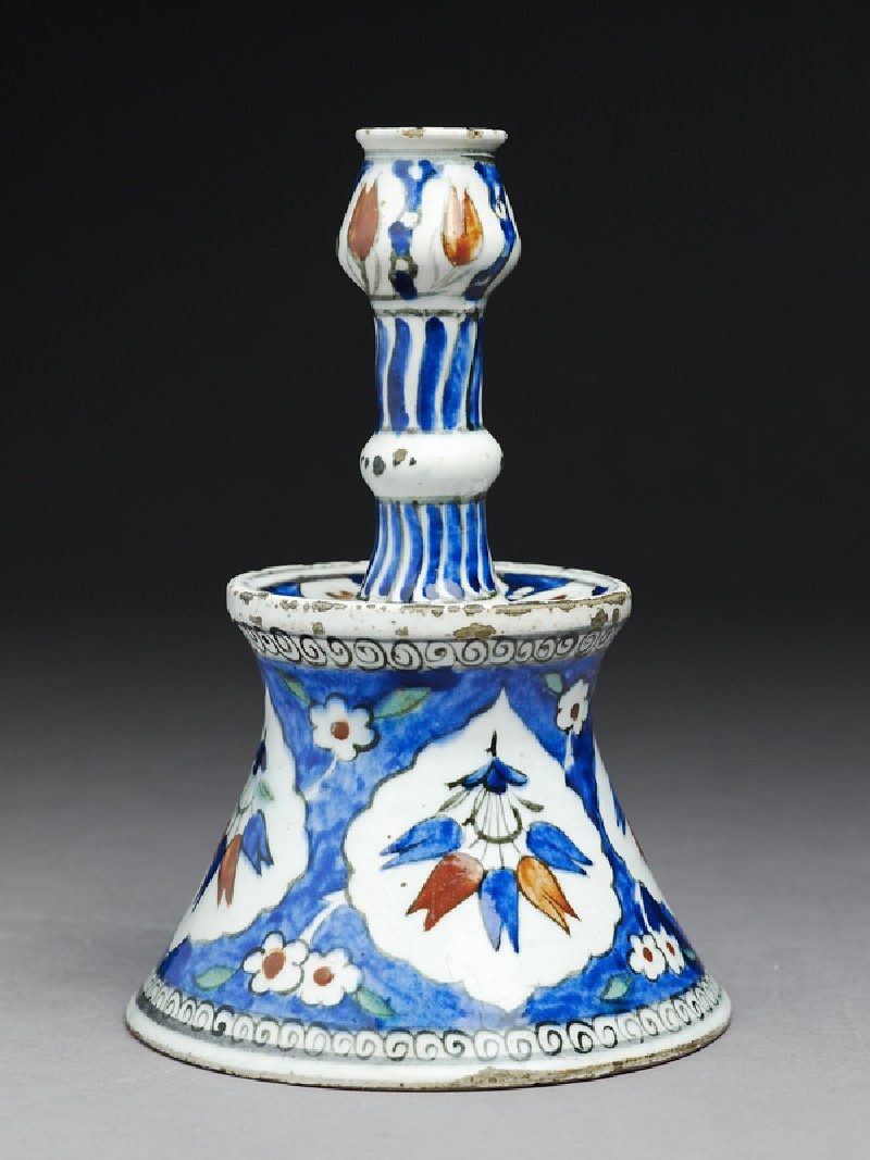 Candlestick with tulip blossoms (EAX.3276, side          )