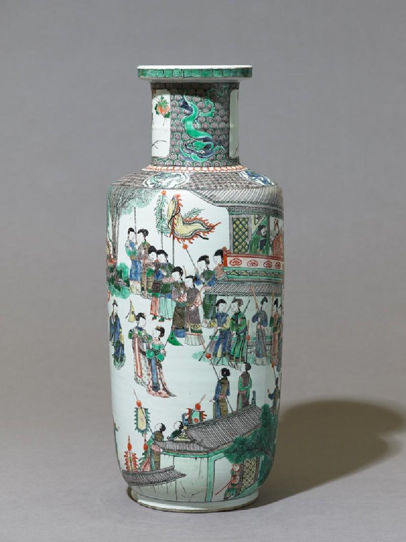 Vase with theatrical scene