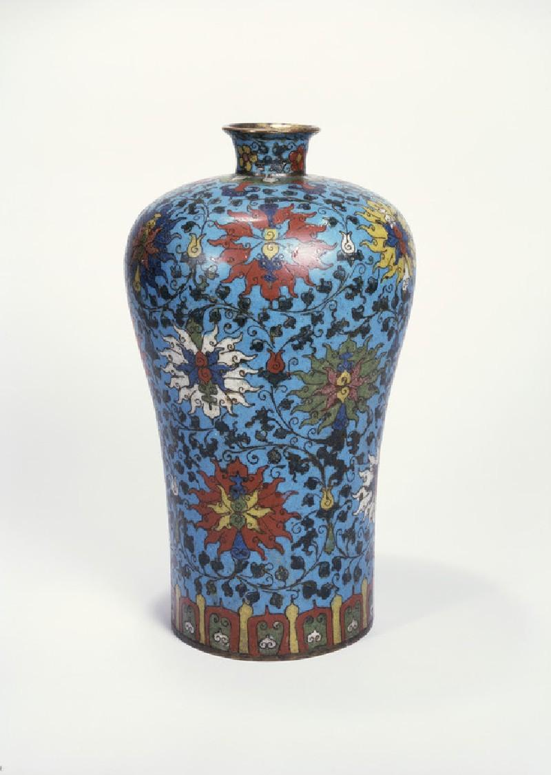 Meiping vase or bottle with floral design (side          )