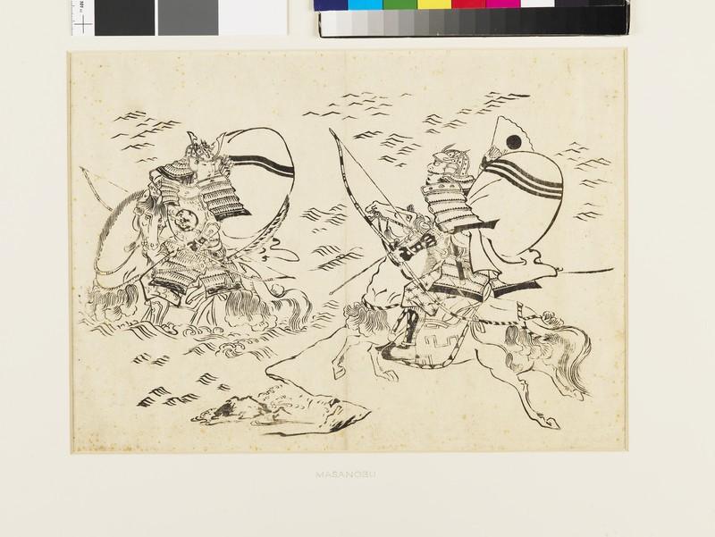 Kumagai no Jirō Naozane challenging Taira-no-Atsumori (EAX.4008, front          )
