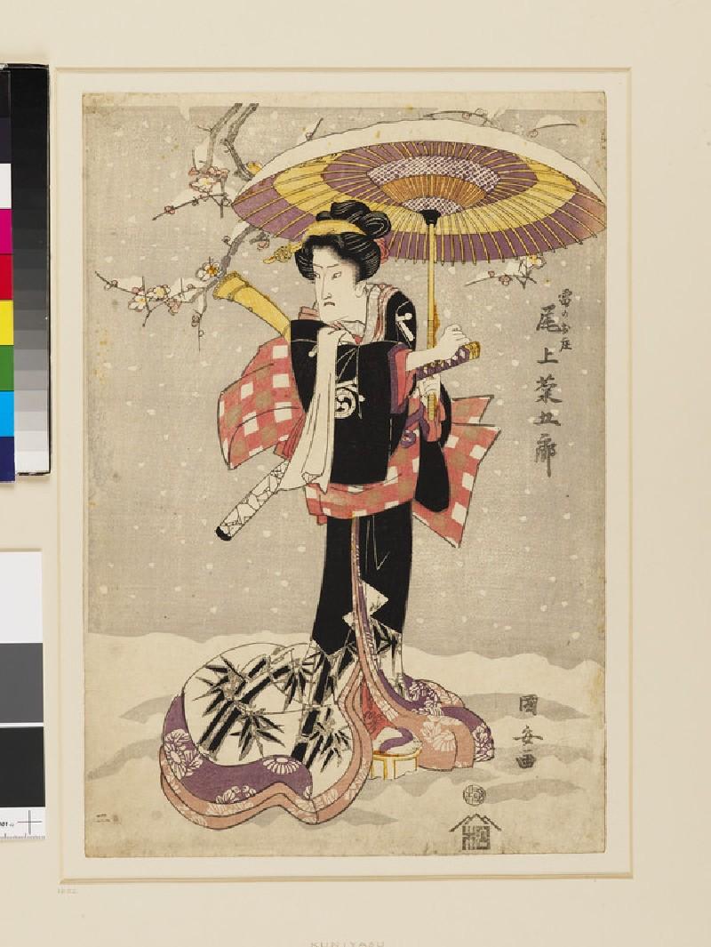 Onoe Kikugorō as Kaminari no Oshō (front          )