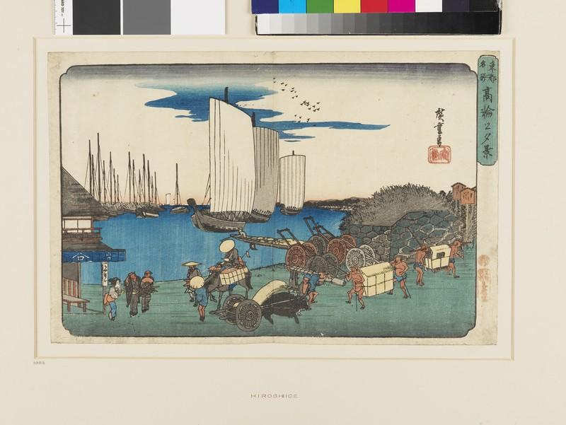 Evening scene at Takanawa (EAX.4325, front          )