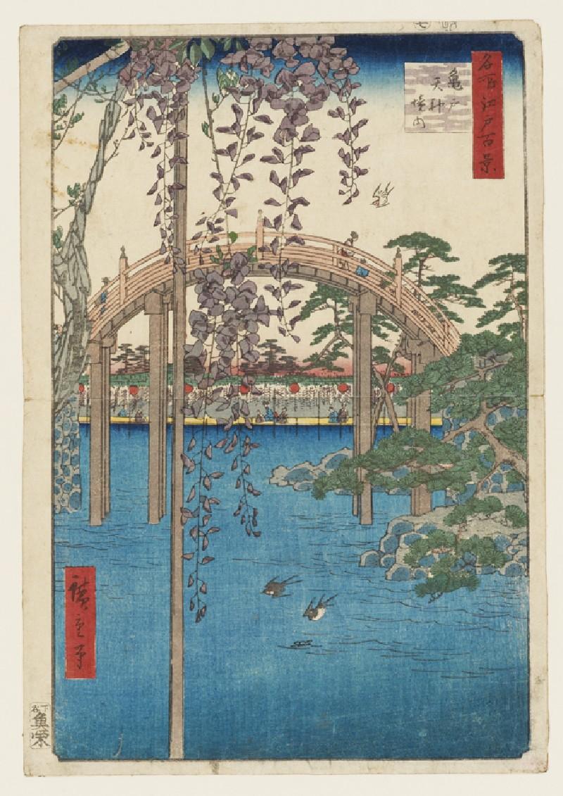 Inside KameidoTenjin Shrine (EAX.4359, front          )