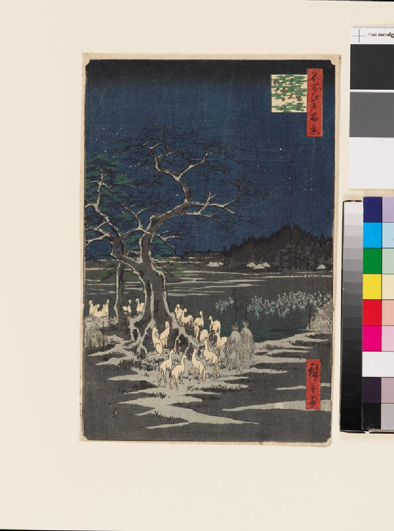 New Year's Eve Foxfires at the Changing Tree, Oji (EAX.4370, front          )