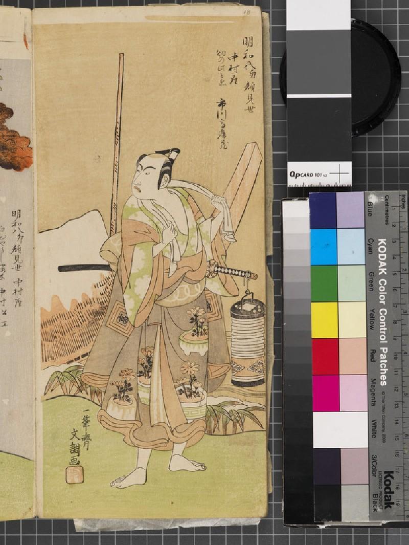 Ichikawa Komazō (front          )