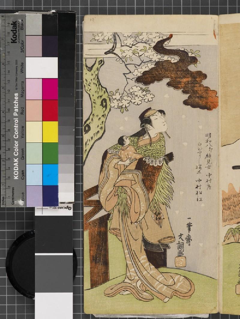 Nakamura Matsue I as Yoshino Otome Disguised as Sakuragi (EAX.4814, front          )