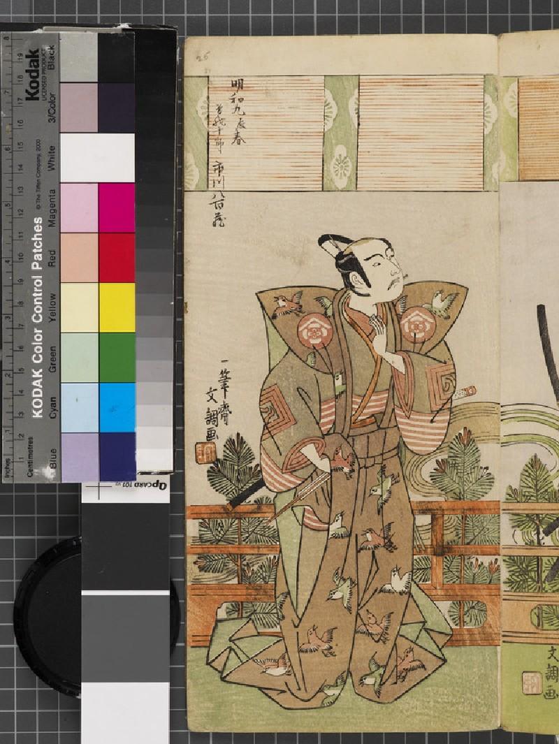 Ichikawa Yaozō II as Soga Jūrō (EAX.4820, front          )