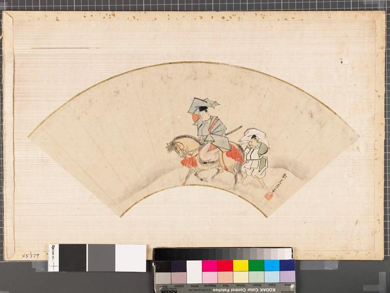 Ariwara no Narihira on horseback (EAX.5379, front          )
