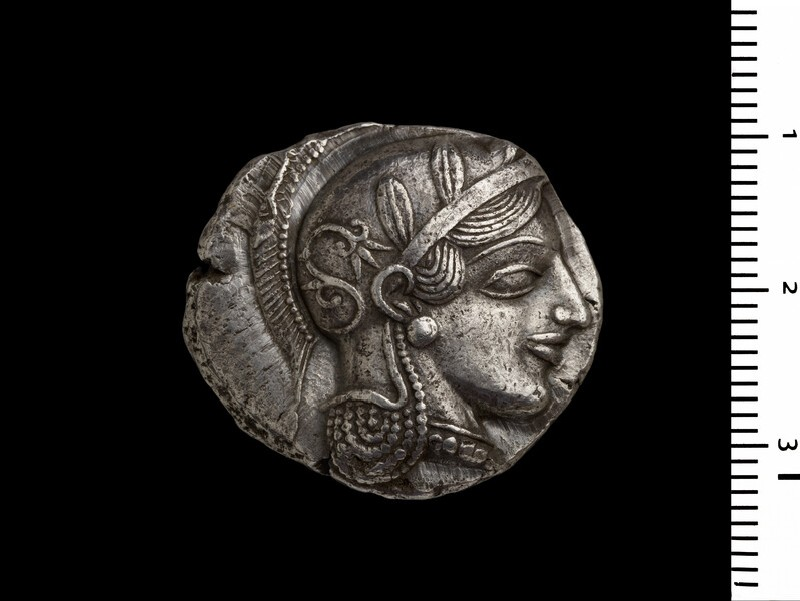 Ancient Greek silver coin (HCR5129)