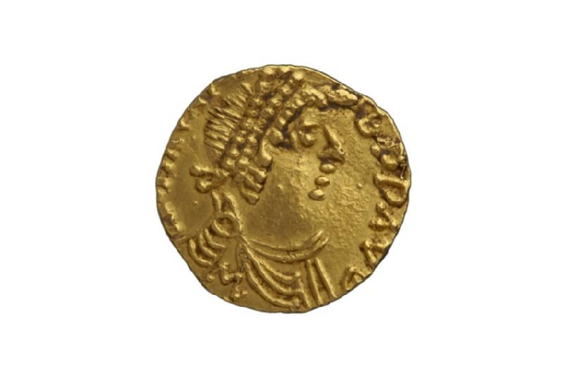 Merovingian gold coin (HCR8162)