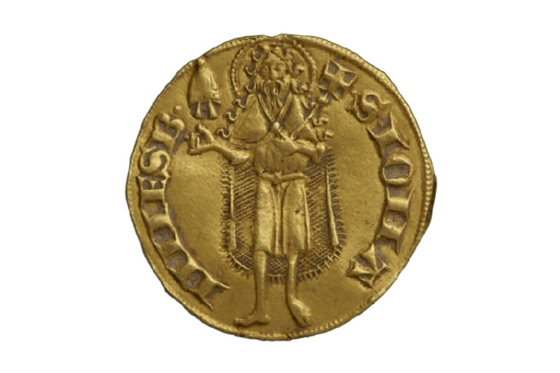 Papal gold coin (Urbano V)