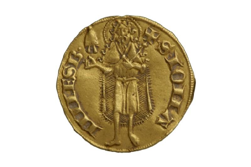 Papal gold coin (Urbano V) (HCR8166)