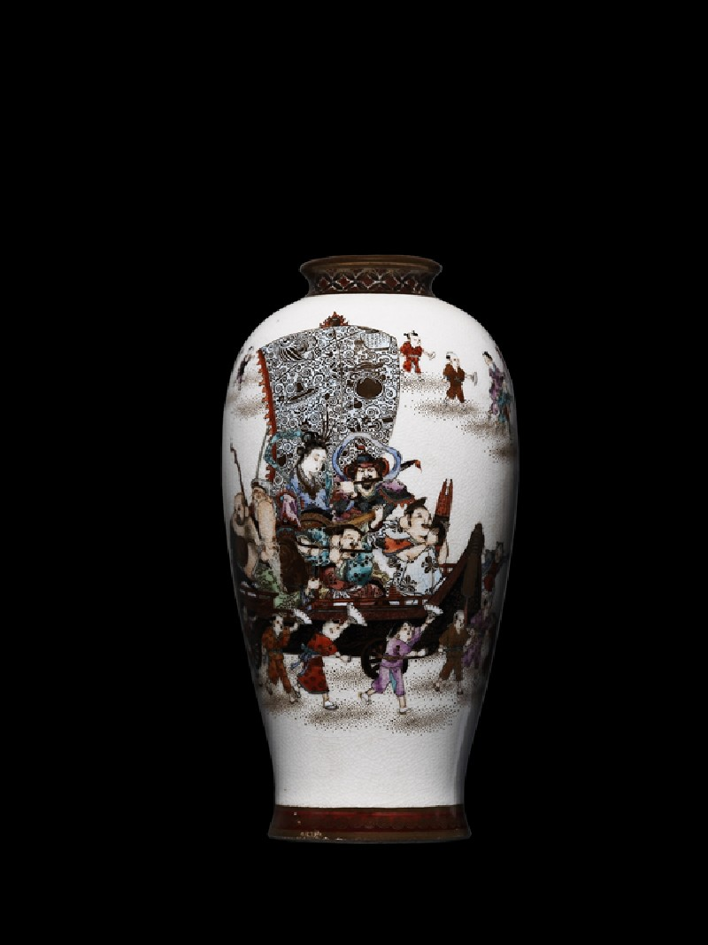 Vase with procession celebrating the Seven Lucky Gods