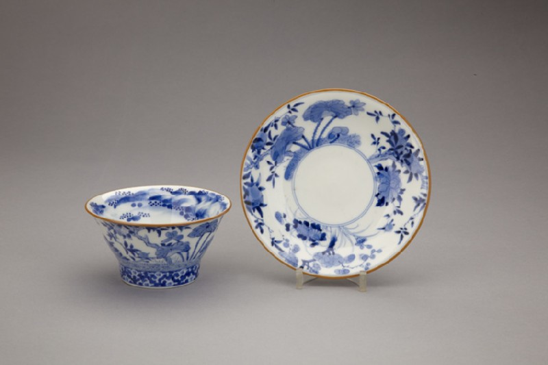 Cup and saucer with plants (EA2014.50)