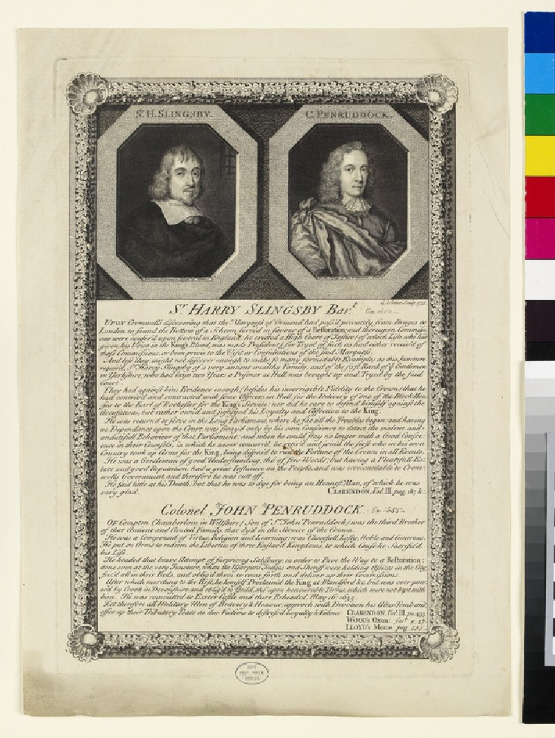 Portrait of Col. Penruddock and H. Slignsby (WAHP28242, HP28242)