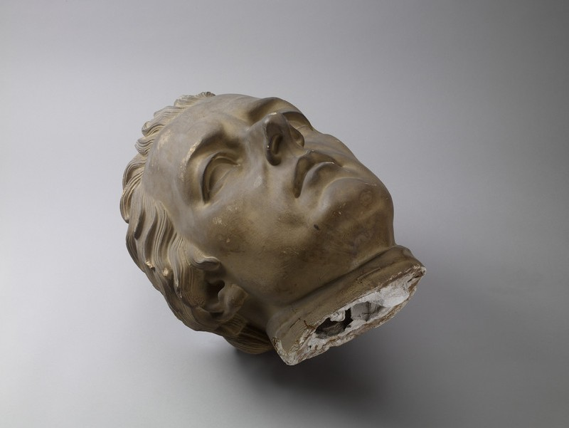 Colossal statue of Rt Hon William Pitt (1759-1806), fragment, head only (WA1842.3)