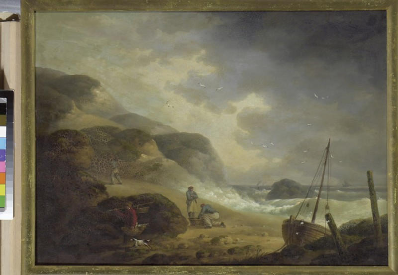 Scene on the Sea-coast with Fishermen