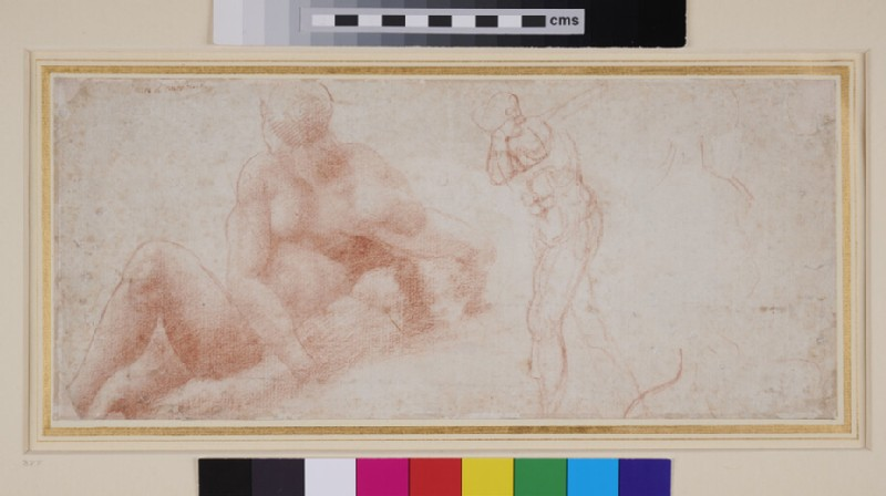 Recto: Reclining Figure and other Studies