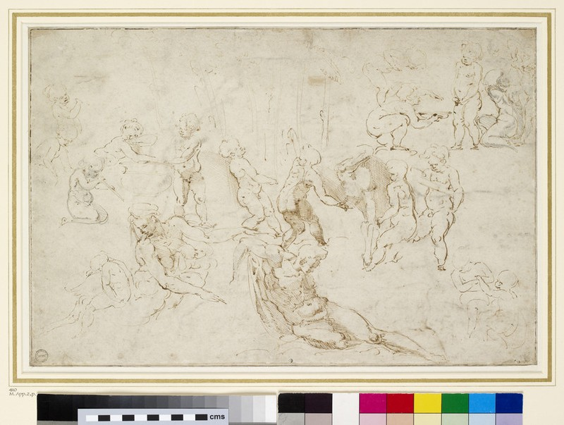 Recto: Infant bacchanal 