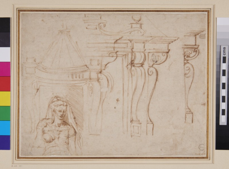 Designs for a chimney-piece and other studies