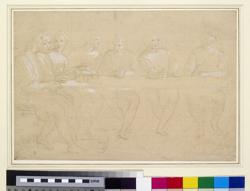 Recto: Part Study for a Composition of the Last Supper
