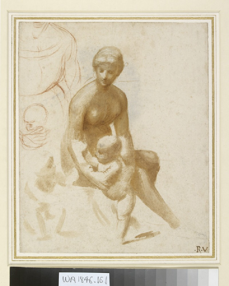 Studies for a Virgin and Child with the Infant St John (WA1846.161)