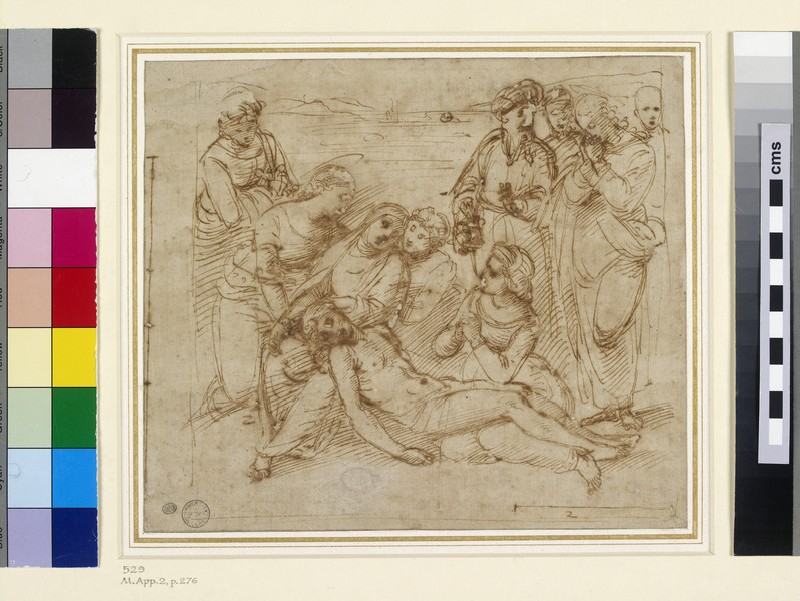 The Lamentation (study for the Entombment of Christ) (WA1846.170)