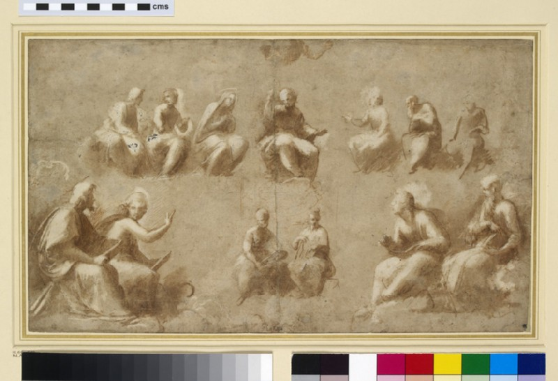 Christ and the Saints in Glory (Study for the Disputa) (WA1846.183)