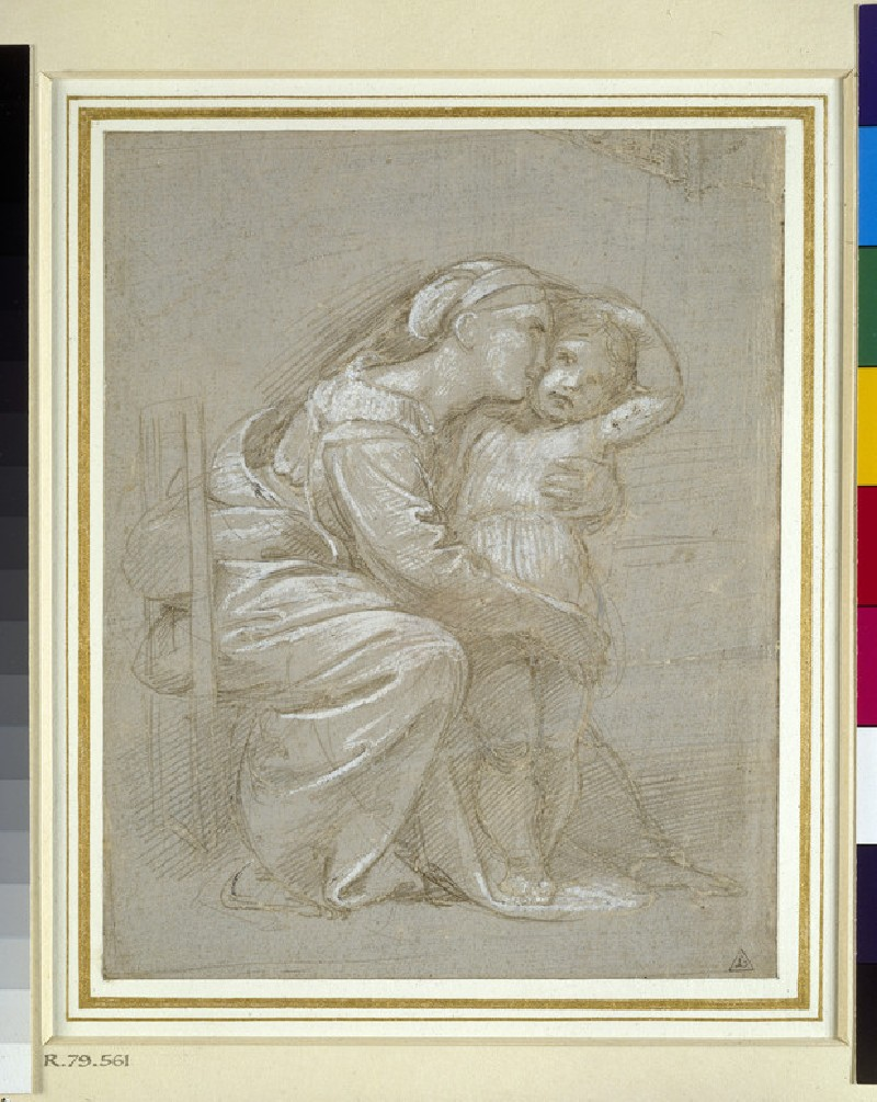 A mother embracing a child (WA1846.202)