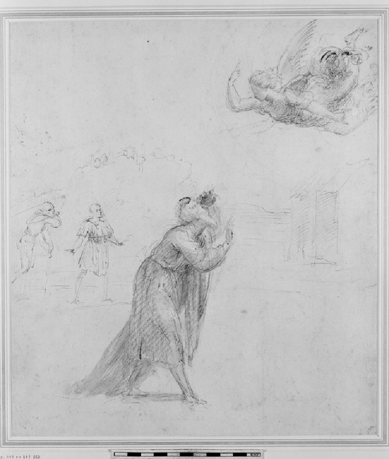 Recto: The Angel appearing to Joachim