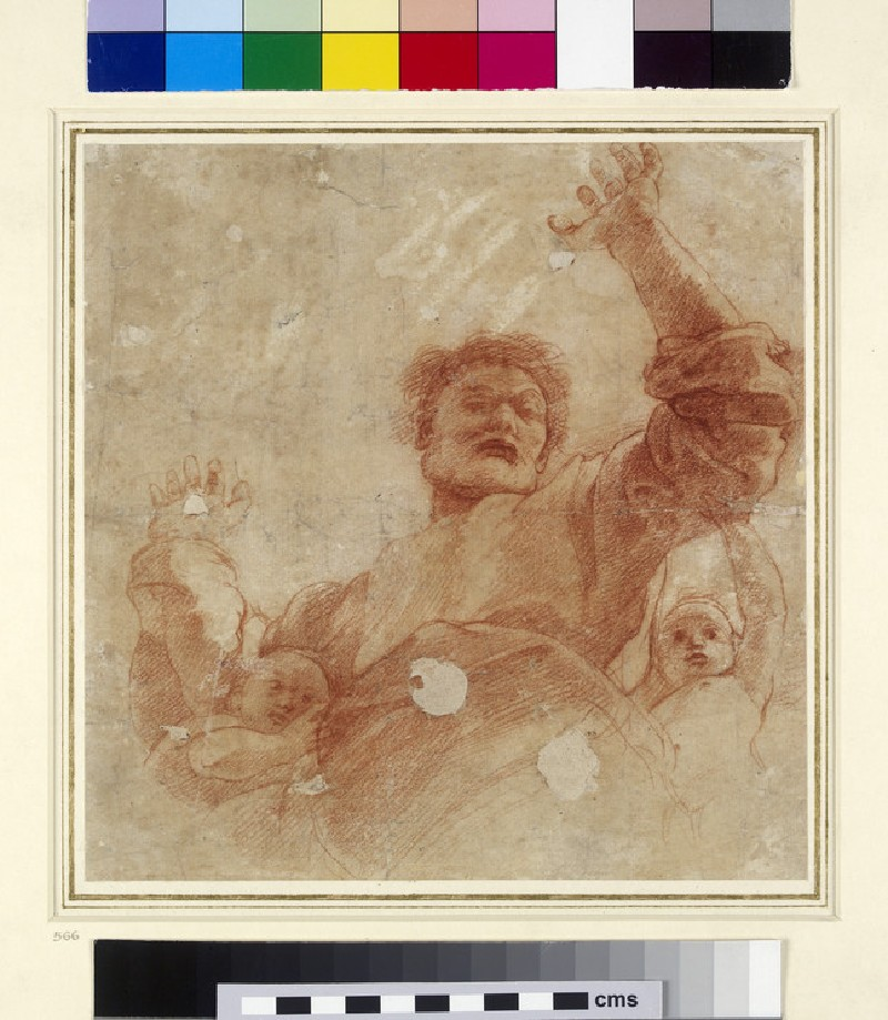 Recto: Study for a Figure of the Almighty<br />Verso: Study for a Figure of the Almighty (WA1846.207)