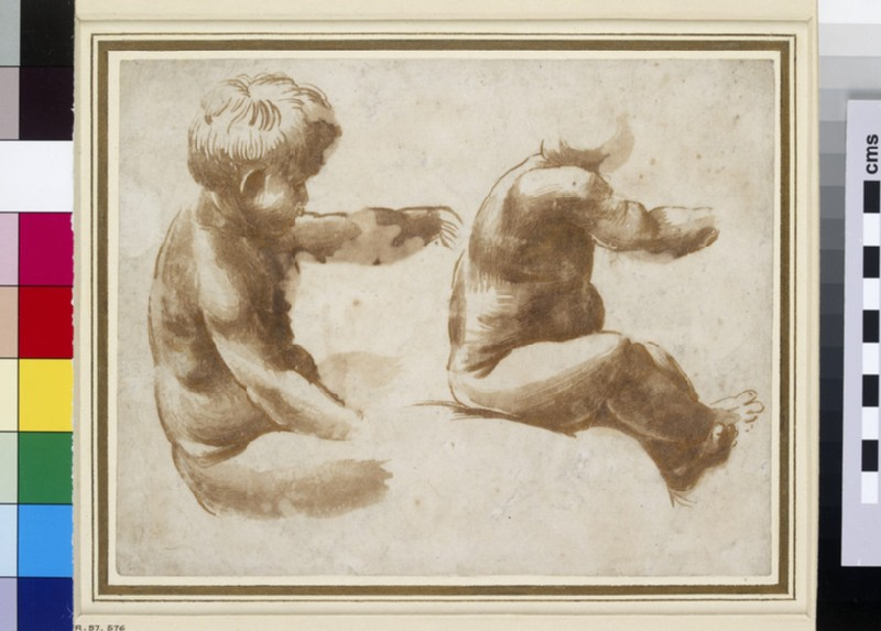 Two Life Studies of a nude Child