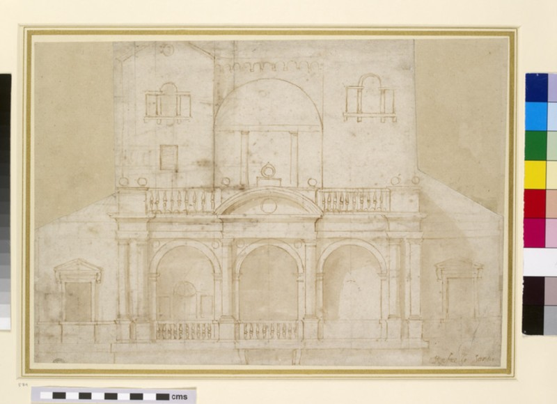 Recto: Architectural Design (Villa Madama)