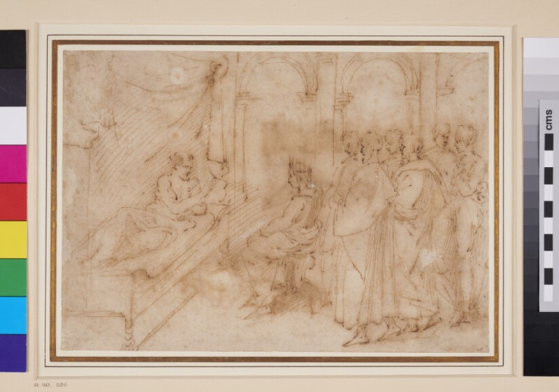 Recto: Solomon at the Death-bed of David