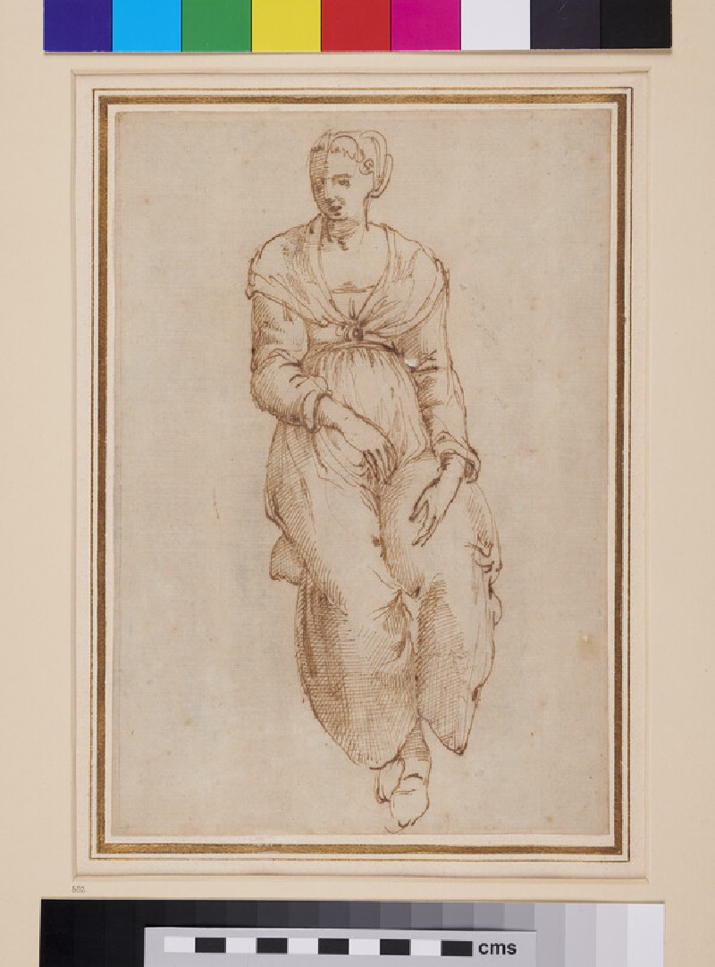 Recto: Seated Woman