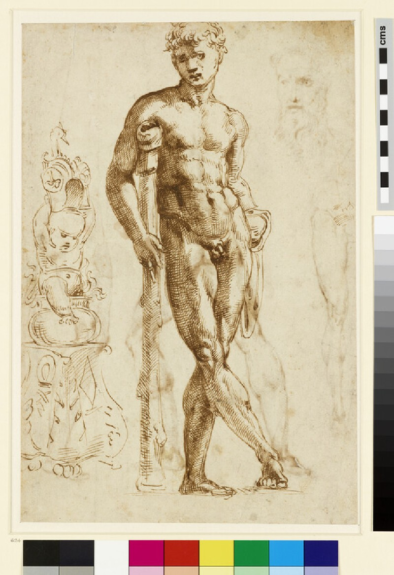 Recto: The youthful Hercules