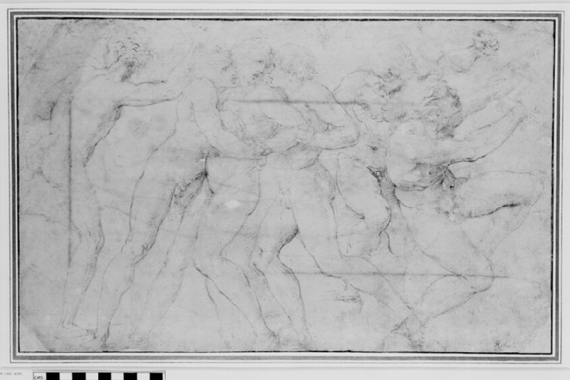 Composition of nude figures