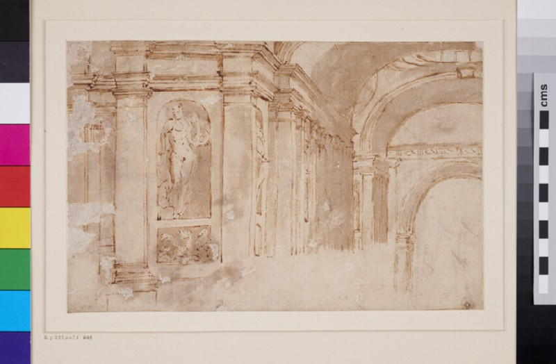 Detail of Architecture from the School of Athens (WA1846.280, recto)