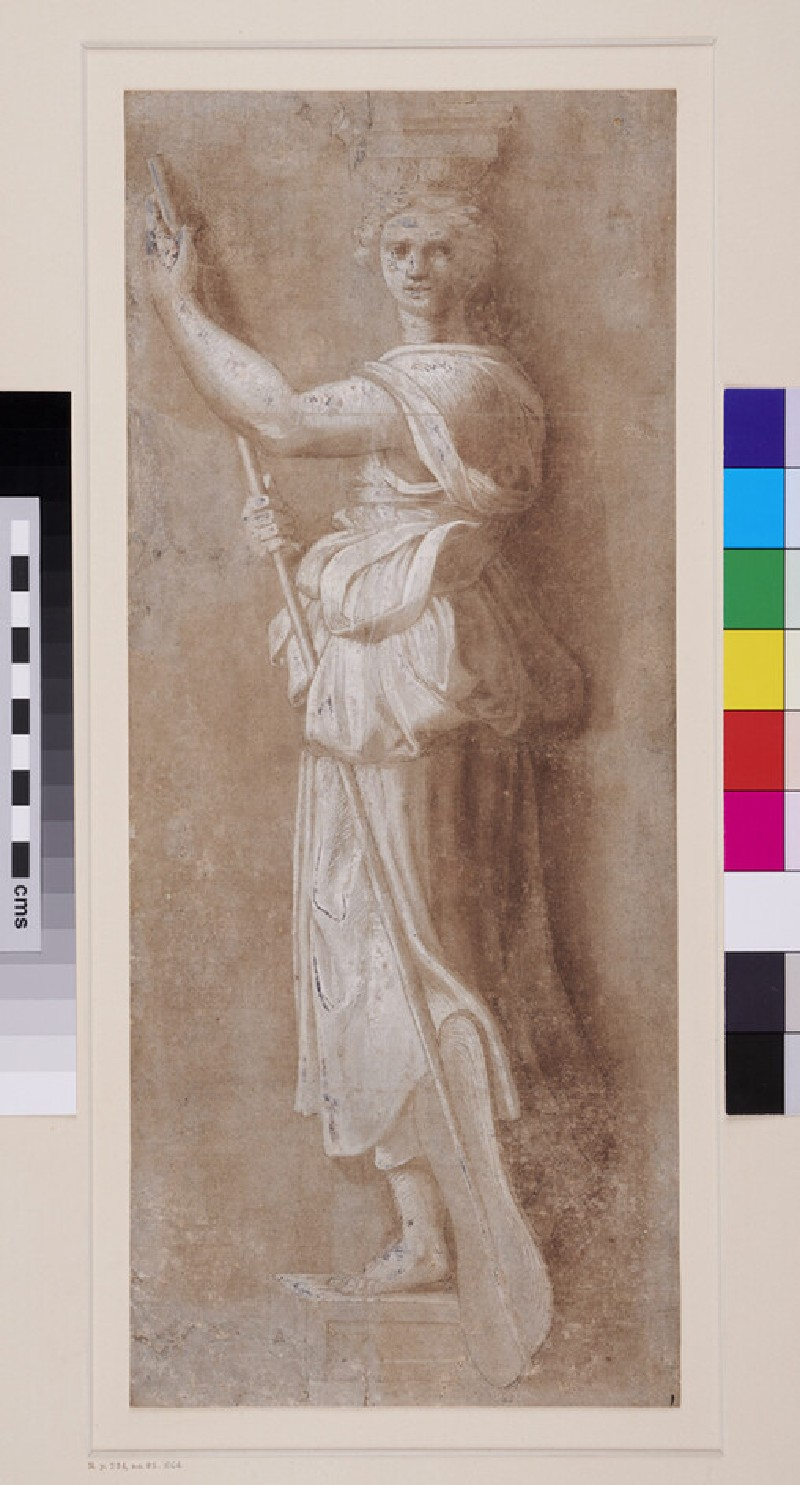 Navigation: one of a set of allegorical Caryatids (WA1846.293, recto)